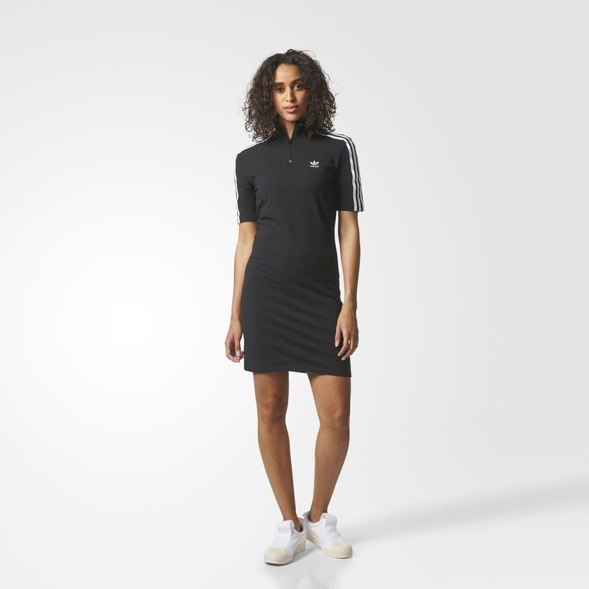 Šaty Adidas Originals 3-STRIPES Black White - Dámske šaty - Locca.sk 7bbbbecd141