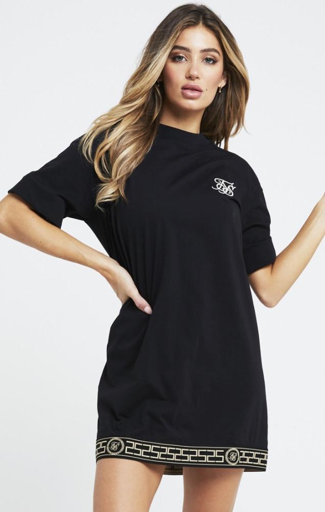 SIK SILK Dámske čierne tričkové šaty SikSilk Athena T-Shirt Dress ... e7d371d6bdb