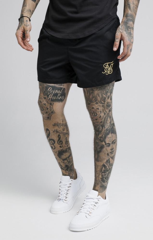 SIK SILK Pánske kraťasy SikSilk Standard Swim Shorts Farba: Čierna,