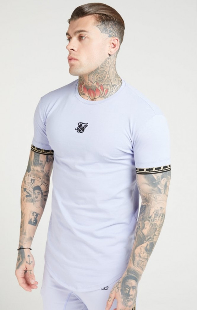 SIK SILK Pánske tričko SikSilk S/S Scope Gym - Dusty Sky