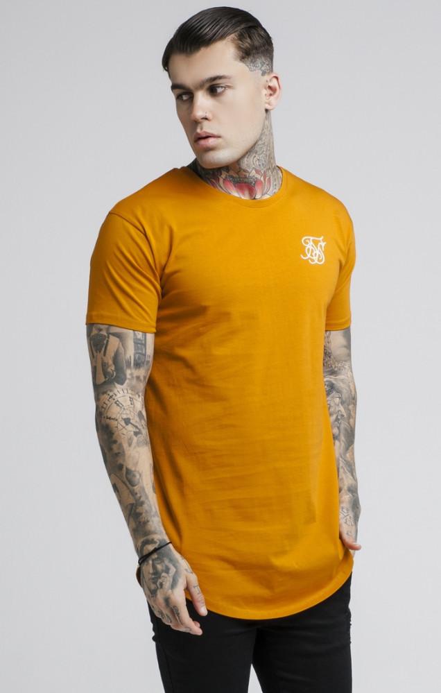 SIK SILK Tričko SikSilk S/S Curved Hem Farba: Oranžová,