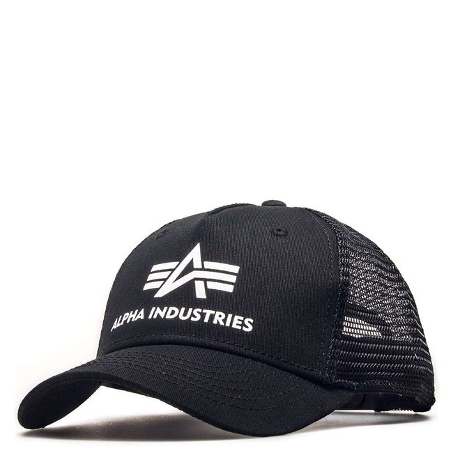 667602871 Šiltovka so sieťkou Alpha Industries Basic Trucker Cap Black ...