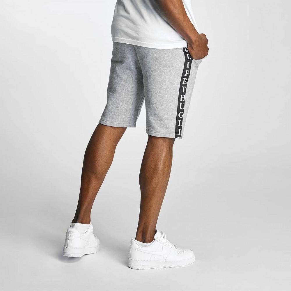 06e99a24ba1f SOUTHPOLE Pánske teplákové kraťasy Thug Life Twostripes Shorts Grey ...