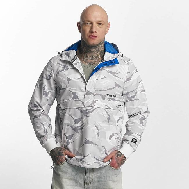 41c7294a8c86 Thug Life   Winter Jacket Threat in white - Rybárske bundy a vesty ...