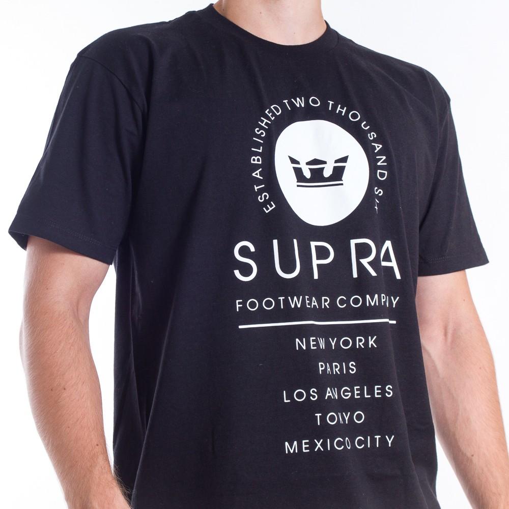 Tričko Supra Caske Black - Pánske tričká - Locca.sk f5a8d71df61