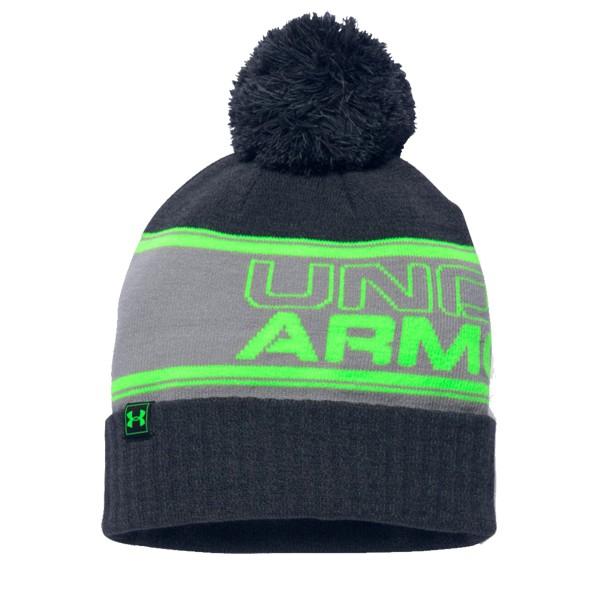 6ac5979de Under Armour Pom Beanie Black Neon Green - UNI - Zimné čiapky - Locca.sk