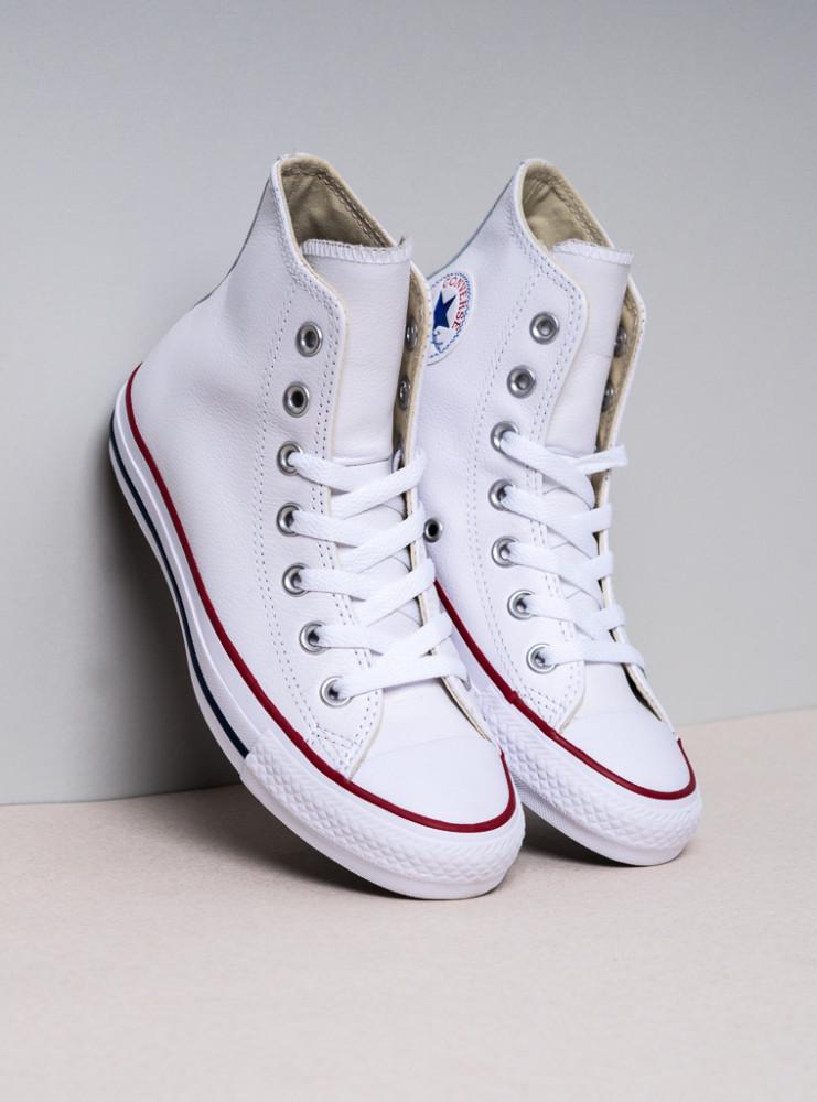 4f60052c1d Unisex biele kožené tenisky Converse Chuck Taylor All Star Hi ...