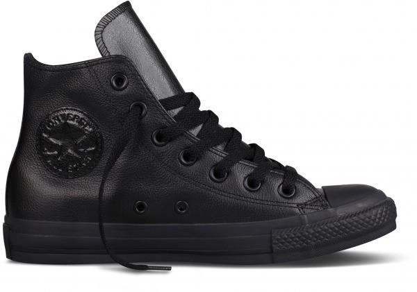Unisex čierne kožené tenisky Converse Chuck Taylor All Star Mono ... cfa5fb74ac8