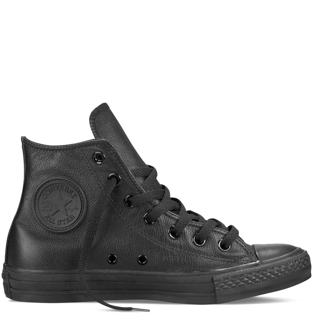 Unisex čierne kožené tenisky Converse Chuck Taylor All Star Mono ... 231982ad0a3