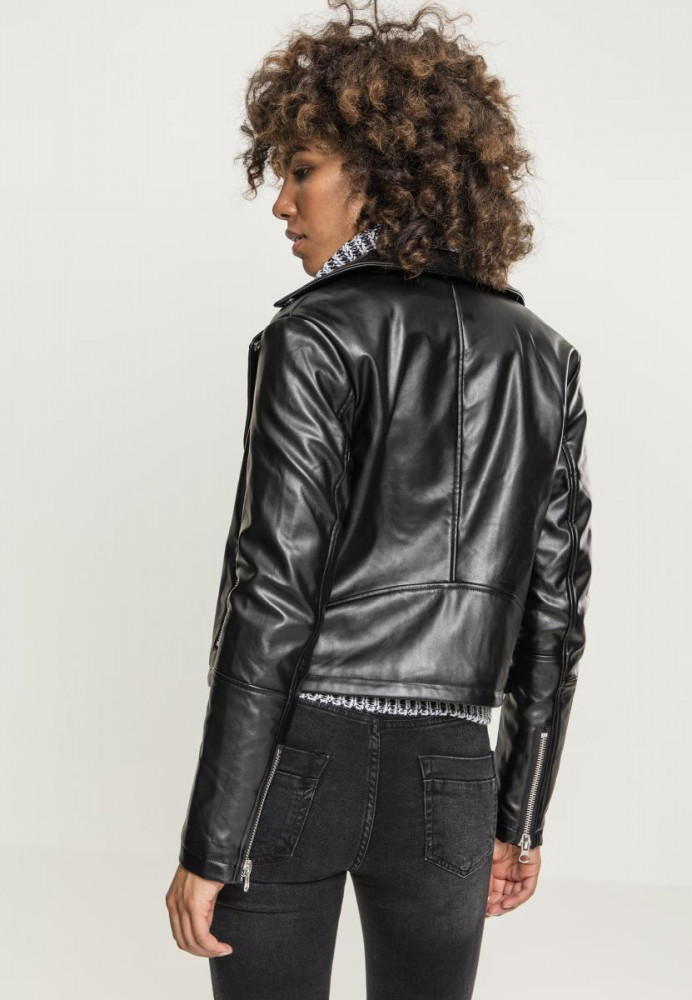 d78a49fd7881 URBAN CLASSICS Dámska prechodná bunda URBAN Ladies Faux Leather Biker Jacket   3