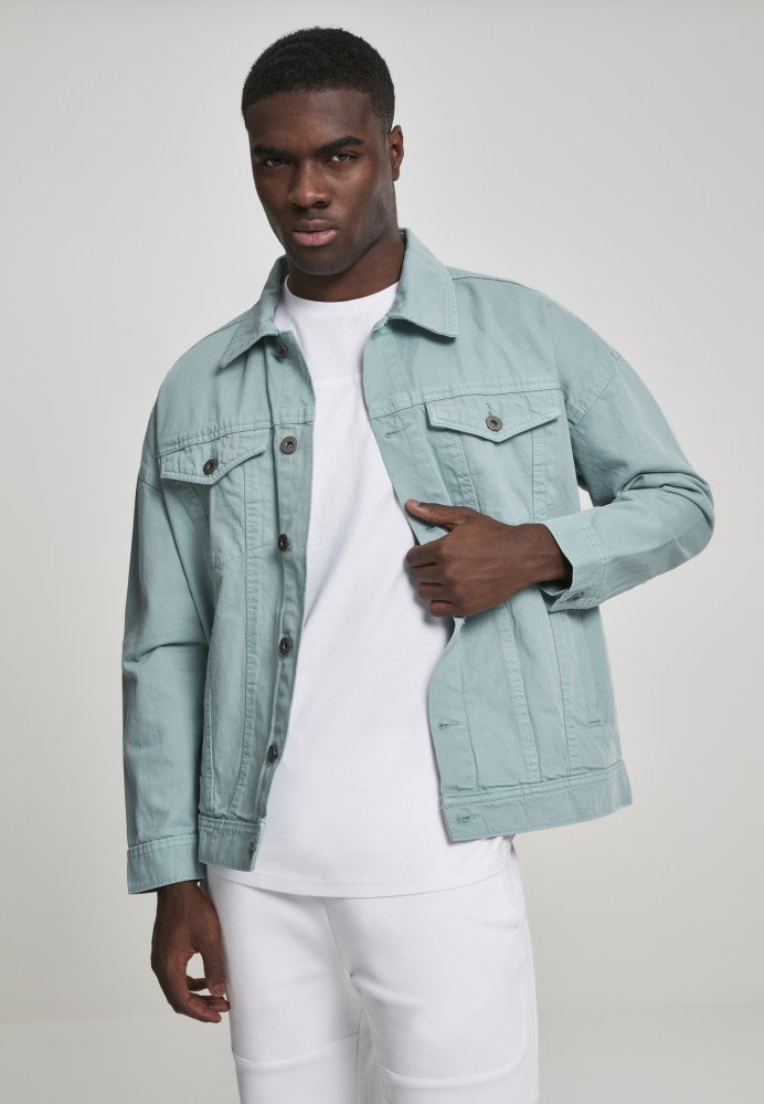 fa341b733 Urban CLASSICS Pánska riflová bunda URBAN CLASSCSOversize Garment Dye  Jacket bluemint