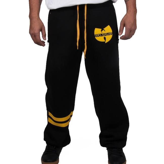 Wu-Wear Wu Tang Clan 36 WU Sweatpants Black Yellow - Pánske nohavice ... 68dc417c04a