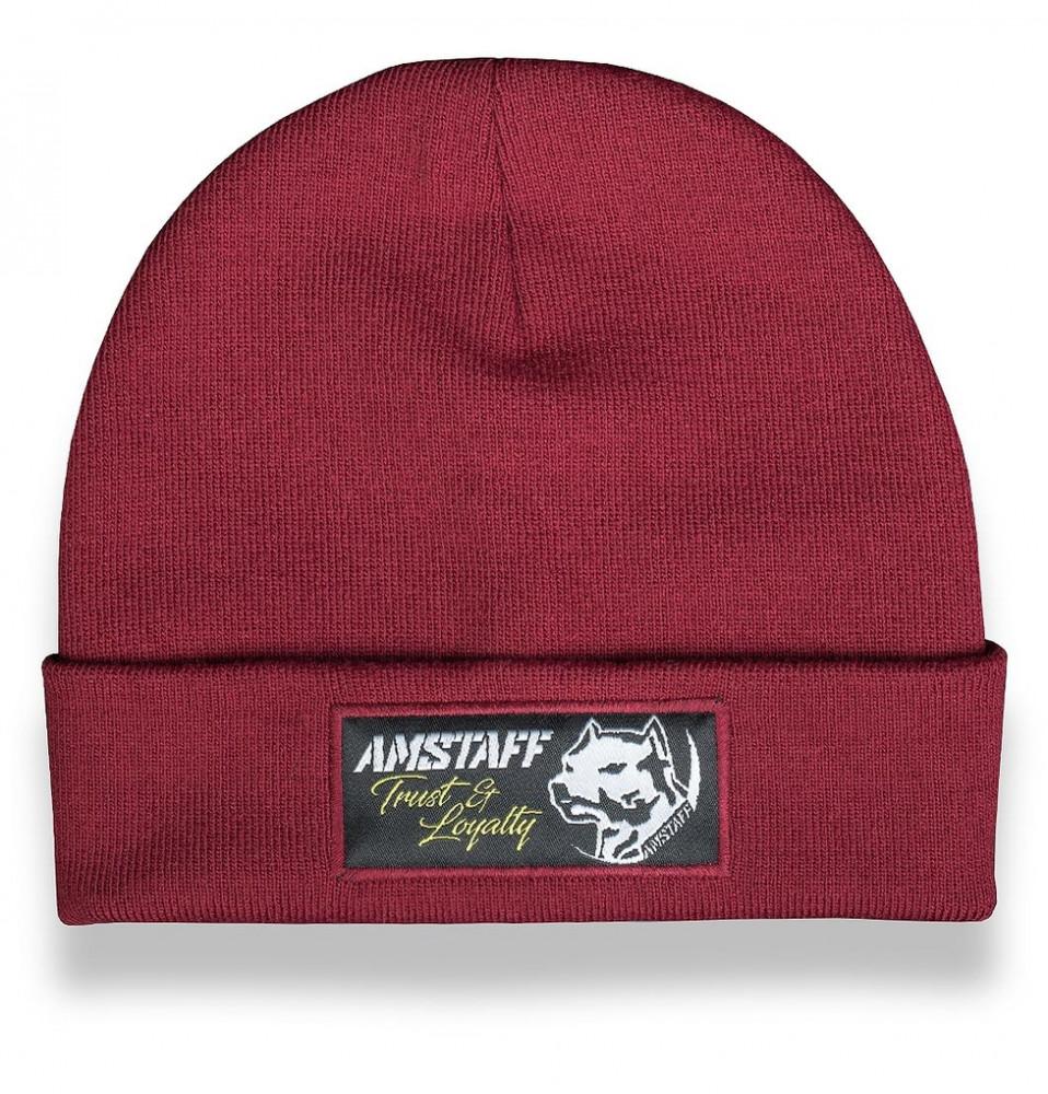 e8b2dec5be724 Zimná čiapka Amstaff Loyalty Beanie bordová - Pánske čiapky - Locca.sk