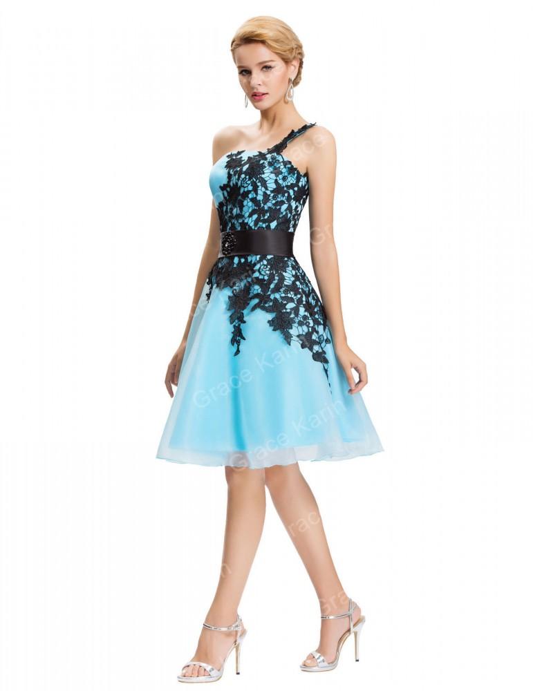Krátke spoločenské šaty Selena 4220 - Spoločenské šaty krátke - Locca.sk 008dd527f11