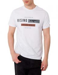 Biele pánske tričko rising Y2989