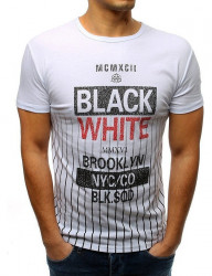 Biele pánske tričko s potlačou N4585