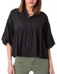 čierna dámska voľná košeľa N9587