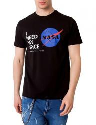 čierne pánske tričko nasa Y2995