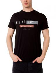čierne pánske tričko rising Y2990