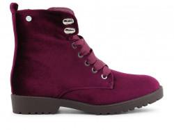 31c1b0c14 Dámske zateplené topánky na šnurovanie RIEKER (Z7112-35) - bordové ...