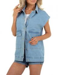 Dámska džínsová vesta I7566