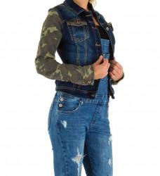 Dámska jeansová vesta Mozzaar Q4154