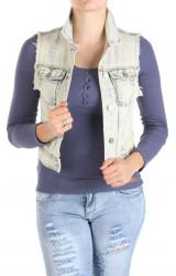 Dámska jeansová vesta Y0043