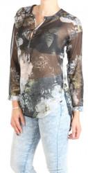 Dámska voĺná košeĺa so vzorom Eight2Nine W0755