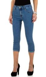 Dámske 3/4 jeansové nohavice Q5496