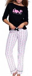 Dámske bavlnené pyžamo N1384