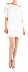 Dámske biele čipkované šaty na ramená New Look X9748