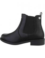 Dámske čierne Chelsea topánky I2045
