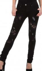 Dámske čierne jeansy Mozzaar Q4837