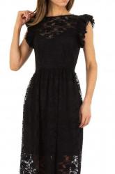 Dámske čierne šaty Voyelles Q5079 #3