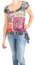 Dámske farebné tričko Desi W0979
