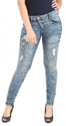 Dámske jeansové nohavice Rock Angel W1316