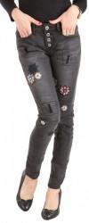 Dámske jeansové nohavice Sublevel W1528