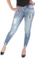 Dámske jeansy Rock Angel W2266