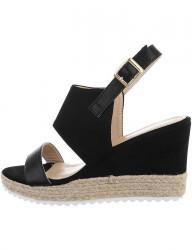 Dámske klinové sandále I1298