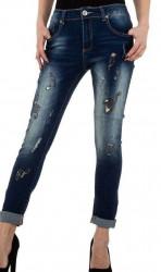 Dámske moderné jeansy Mozzaar Q4839