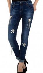 Dámske moderné jeansy Mozzaar Q4840