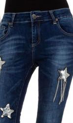 Dámske moderné jeansy Mozzaar Q4840 #3