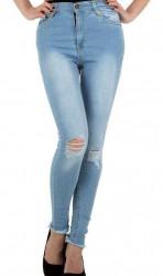 Dámske moderné jeansy Q4838