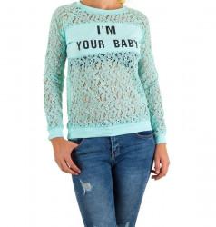 Dámske módne tričko s dlhým rukávom Q3801