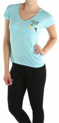 Dámske modré tričko s nášivkou Cache Cache X9639