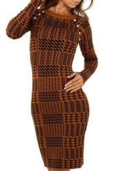 Dámske pletené šaty Q7002