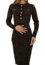 Dámske pletené šaty Q7012
