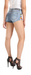 Dámske riflové šortky Rock Angel W0499 #1