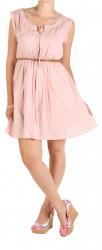 Dámske ružové šaty Fresh Made W0550