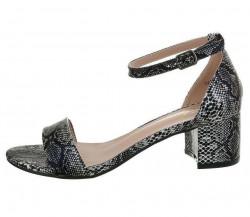 Dámske sandále na podpätku Q4688